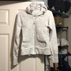 Lululemon Light Grey Zip Up Jacket